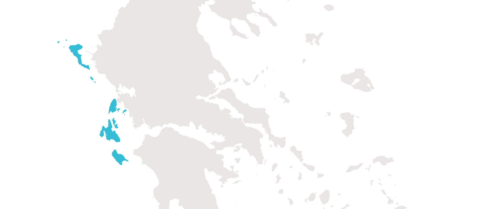 ionian islands greece summer vacation map