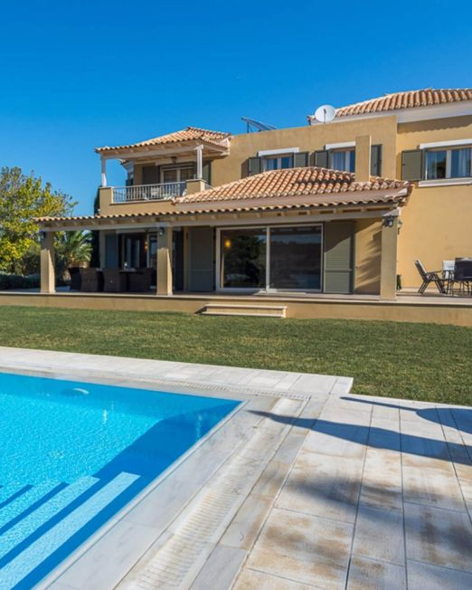 villa arete for rent 340 squared meters 12 guests porto heli greece